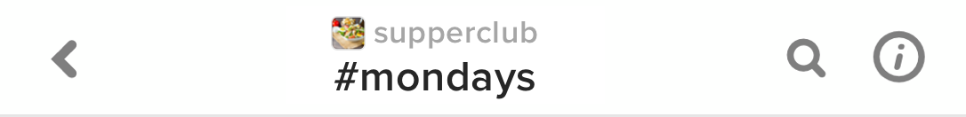 Keybase chat header: @supperclub#mondays